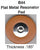 "B44 Assortments  of Regular Pad W/Flat Metal Resonator in Millimeter (.185"" Thick)"