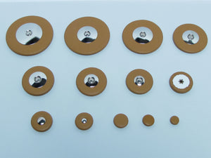 B46 Domed Metal Resonator Thin Pad Sets and Assortments