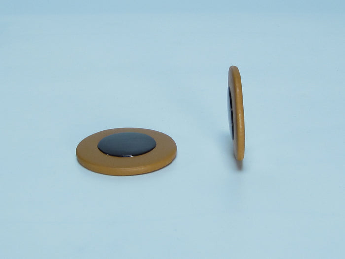 B52 22.5-38mm Thin Sax Pads with Selmer Type Plastic Resonator