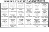 C70 LYRE SCREWS