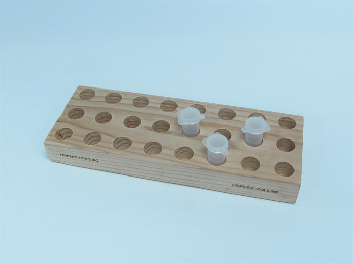 D73W Extra wood block to hold vials