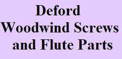 Deford Woodwind Screws and Flute Parts