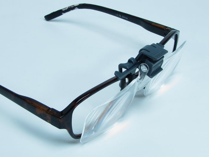 J1  2.25X   Clip-on, Flip-Up,  Magnifying lenses for eyeglasses