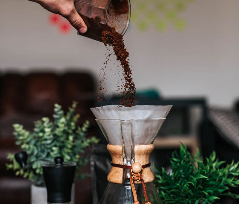 grind your coffee right before you brew