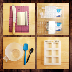 tools for DIY melt and pour message soaps