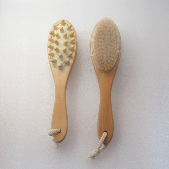 Natural Boar Bristle Massaging Brush