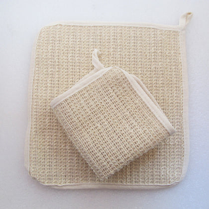 Natural Sisal fiber Washcloth 10""