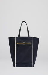 Saylor | Navy Canvas Black