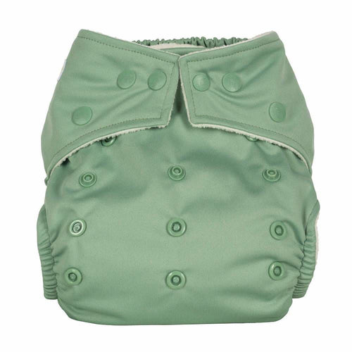 Baba+Boo - One Size Reusable Nappy - Block colours - Sage
