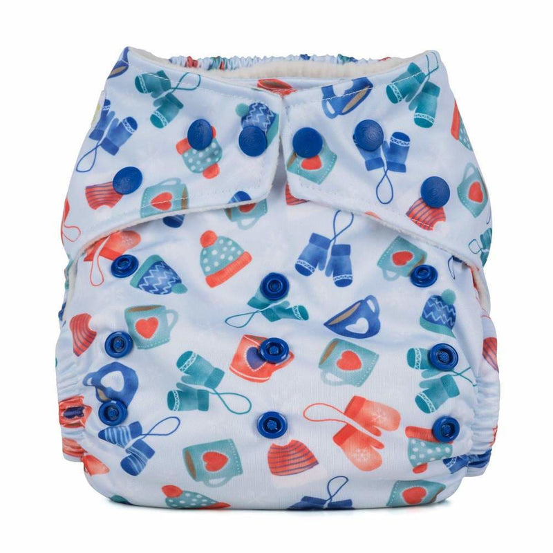 Baba+Boo - One Size Reusable Nappy - Cosy Collection - Wrapped up