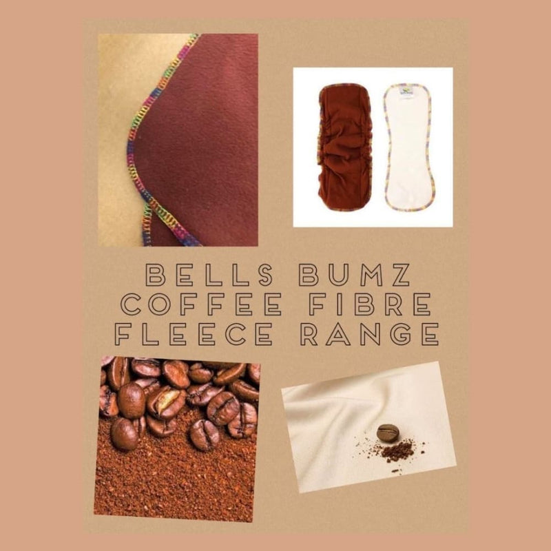 Bells Bumz - Pack of 10 Stay Dry Fleece liners - Coffee
