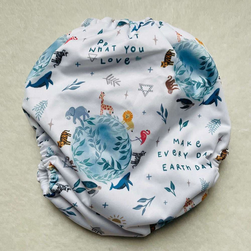Frog and Bear - XL pocket nappy - Earth Day Every day