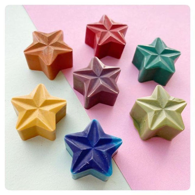 Green Crayon_ - Rainbow Stars Crayon Set