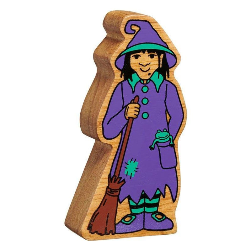 Lanka Kade - Autumn figures - Purple and Green Witch