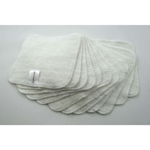 MuslinZ - Bamboo Cotton Terry Wipes 20x20cm 12 Pack