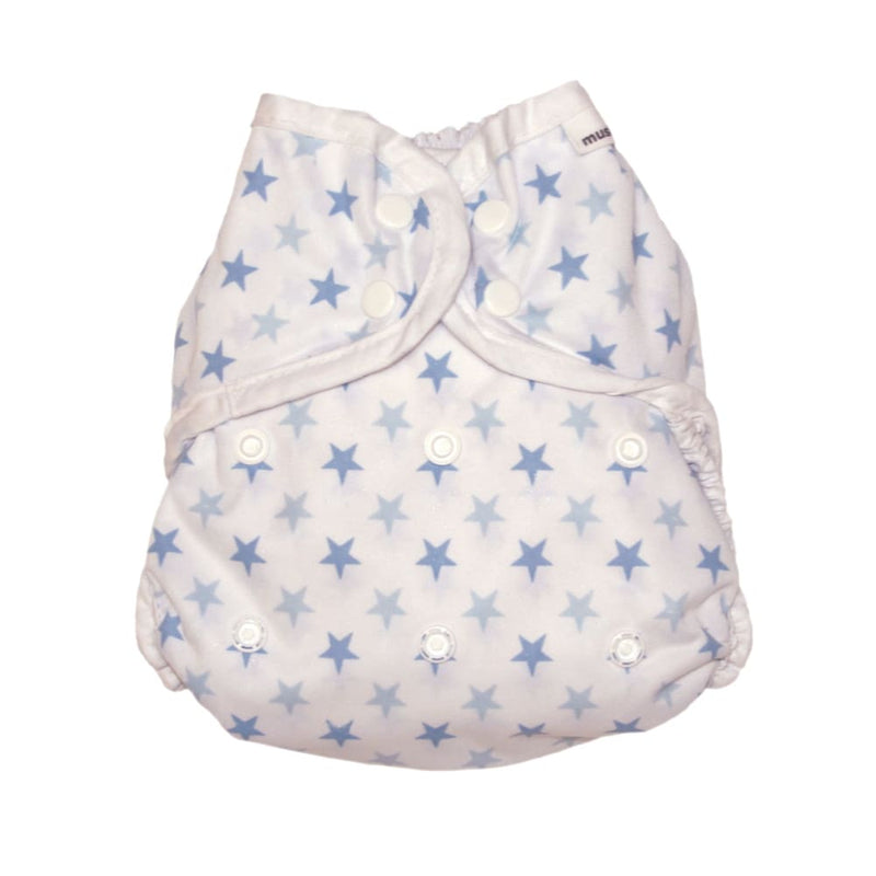 MuslinZ - Washable Nappy Wrap – SIZE 2 - Blue Star