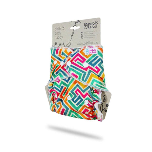 Petit Lulu - Fitted One Size Nappy (Snaps)