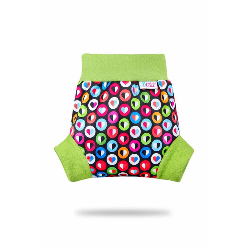 Petit Lulu - Pull-Up Cover (PUL) - Large / Colorful Hearts