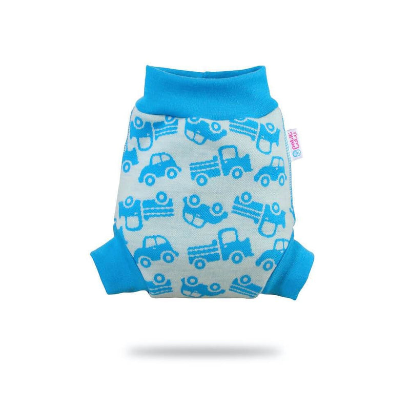 Petit Lulu - Pull-Up (wool) - Small / Turquoise Cars