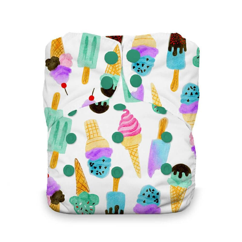 Thirsties - Natural Stay Dry All in One Nappy - We Scream
