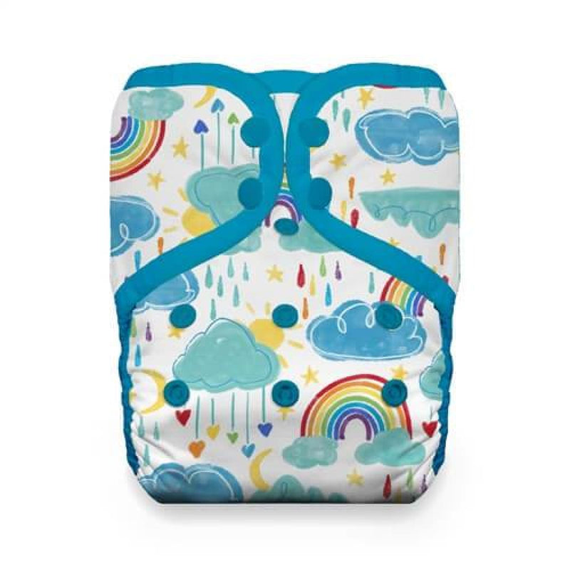 Thirsties - One Size Stay-Dry Pocket Nappy - Snaps - Rainbows