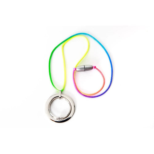 Yummikeys - Stainless Steel Feeding Necklace - Rainbow