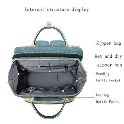 4:1 Portable Baby Diaper Crib Bag