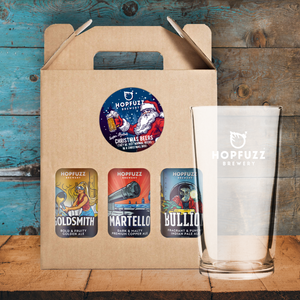 Hopfuzz Chrismas Gift Box + Pint Glass