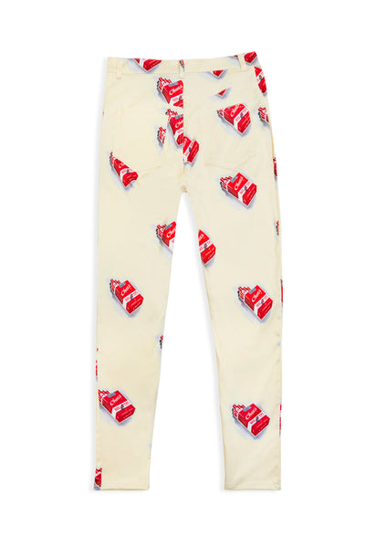 WOMENS CUSTOM CIGARETTE PRINT TROUSERS
