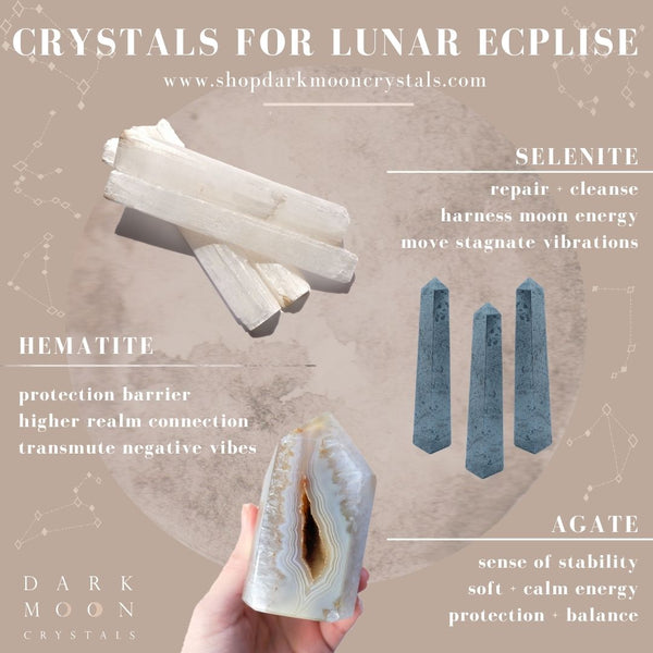 ☾ Crystals for the Lunar Eclipse ☾