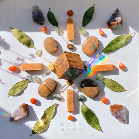 Sacral Heart Healing Crystal Grid
