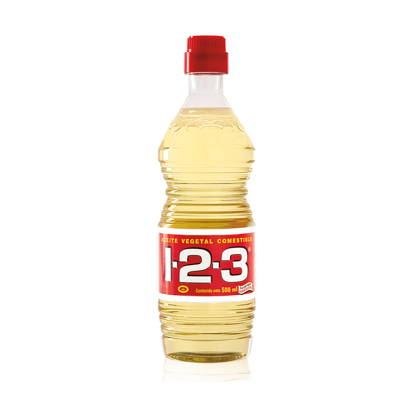 1-2-3 Aceite Vegetal 500 ml