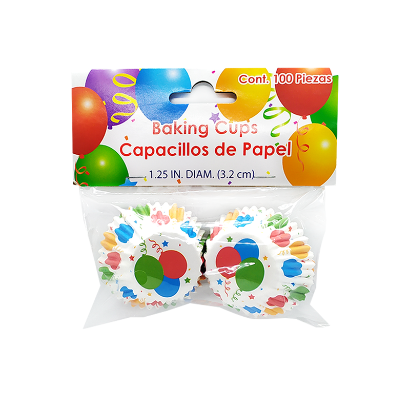 Globos - Set 100 capacillos de papel
