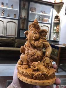 Wooden Decorative Ganesha Carving