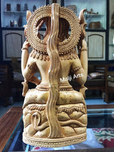 Load image into Gallery viewer, Wooden Shiva Sitting Hand Carved Statue - Malji Arts