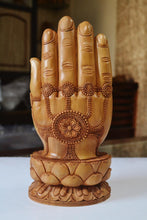 Load image into Gallery viewer, Sandalwood handmade Buddha statue in palm collectible Home Decor Gift - Malji Arts