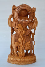 Load image into Gallery viewer, Standing Krishna Statue with Cow Wooden Fine Hand Carved Statue - Malji Arts