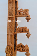 Load image into Gallery viewer, 2.4 ft Sandalwood Opening Sitar or Veena Collective Art-piece - Malji Arts