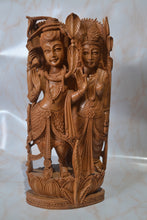 Load image into Gallery viewer, Sandalwood Fine Carved Lord Shiva Parwati Statue, Sandalwood shiv family Statue - Malji Arts