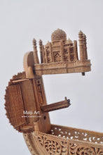 Load image into Gallery viewer, Sandalwood Carved Opening Pocket Watch Collective Piece - Malji Arts