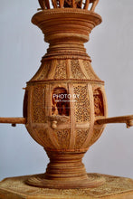 Load image into Gallery viewer, Sandalwood Fine Carved Decorative Flowerpot - Malji Arts
