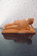 Load image into Gallery viewer, Wooden Fine Hand Carved Sleeping Buddha Statue - Malji Arts