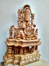 Load image into Gallery viewer, Sandalwood Special Carved GANESH DARBAR Statue - Malji Arts