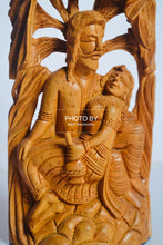 Load image into Gallery viewer, Sandalwood Carved Mughal Love Scene Statue - Malji Arts