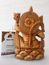 Load image into Gallery viewer, Wooden Hand Carved Lord Hanuman Statue - Malji Arts