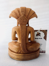 Load image into Gallery viewer, Wooden Hand Carved Lord Parasnath Statue - Malji Arts