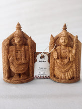 Load image into Gallery viewer, Wooden Tirupati Balaji and Tirumala Statue - Malji Arts