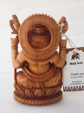 Load image into Gallery viewer, Wooden Hand Carved Ganesha Statue - Malji Arts