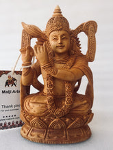 Load image into Gallery viewer, Wooden Hand Carved Krishna Statue - Malji Arts