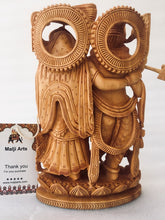 Load image into Gallery viewer, Wooden Hand carved Radha Krishna Statue - Malji Arts
